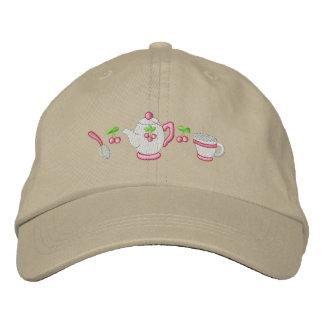 Tea Time Embroidered Baseball Hat