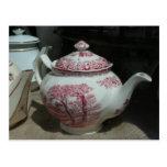 Tea Time - English Teapot - Postcard