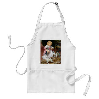 Tea Time for Fox Terrier Puppies Vintage Dog Art Apron