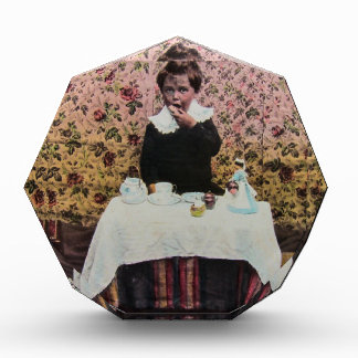 Tea Time for One Vintage Victorian Little Boy Acrylic Award