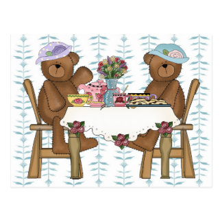 Tea Time for Teddies Postcard