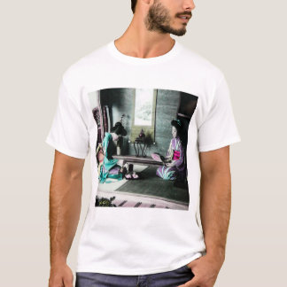 Tea Time for Two in Old Japan Vintage Geisha T-Shirt