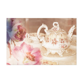 Tea Time Gallery Wrapped Canvas