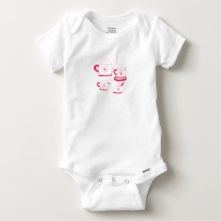 Tea Time Gerber Cotton Babygrow Baby Onesie