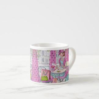 Tea Time Girl espresso mug