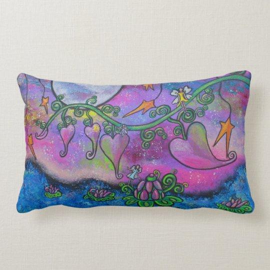 Tea Time In Paradise Fairies Original Art Pillow