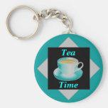 Tea Time Keychain