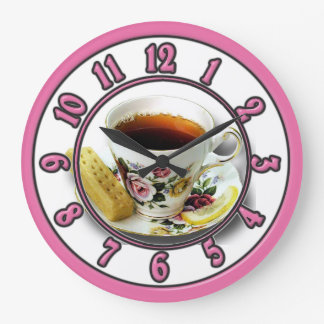 Tea Time Kitchen Clock