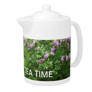 Tea Time Lilac Bush for Grandma Teapot