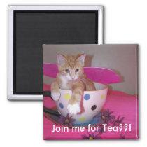 Tea time magnet