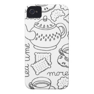 tea time monochrome Case-Mate iPhone 4 case