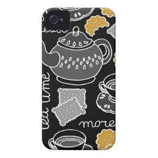 tea time on dark Case-Mate iPhone 4 cases