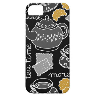 tea time on dark iPhone SE/5/5s case