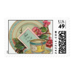 Tea Time Postage Stamp