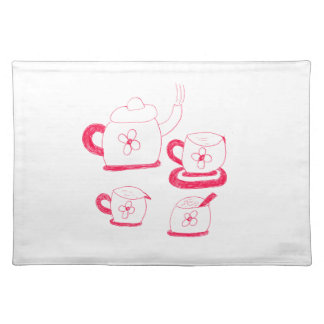 Tea Time Rectangle Cloth Placemat