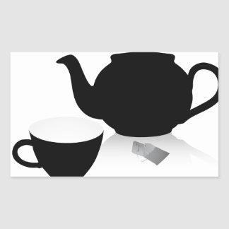 Tea Time Rectangular Sticker