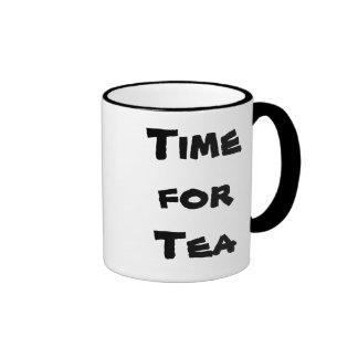 Tea Time (right hand) Ringer Mug