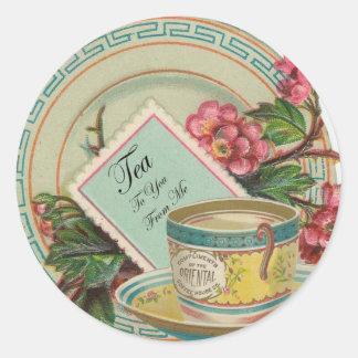 Tea Time Round Sticker