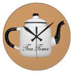 Tea Time Round Wallclock