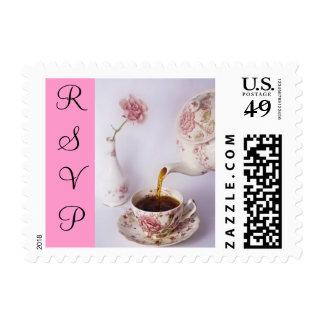 Tea Time small, RSVP Postage