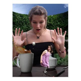 Tea time surprise! postcard