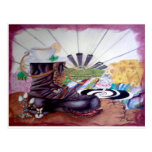 Tea time surrealism painting post cards