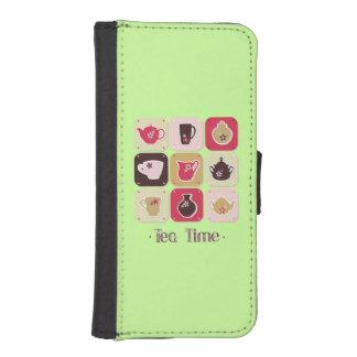 Tea Time Sweet Green iPhone SE/5/5s Wallet