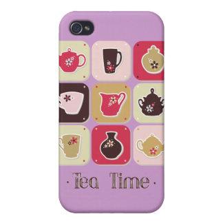 Tea Time Sweet Snack Desserts Happy Love Health iPhone 4 Case