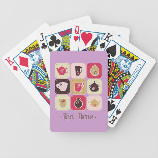 Tea Time Sweet Snack Desserts Happy Love Health Bicycle Playing Cards
