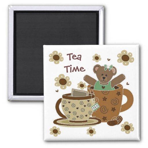 Tea Time Teddy Bear Magnet