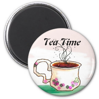 Tea Time - Time for that Cup of Tea 2 Inch Round Magnet