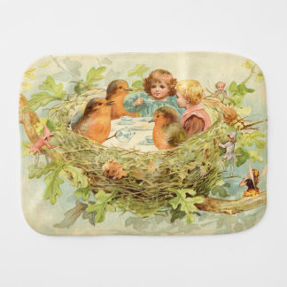 Tea Time Vintage Burp Cloth