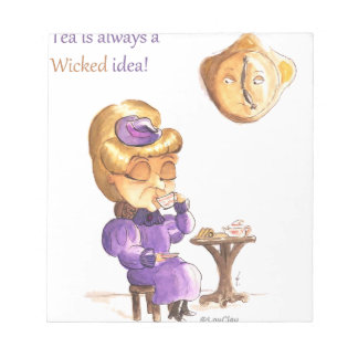 Tea Time Wicked Witches Bloc De Papel