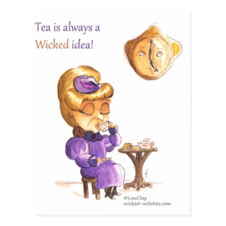Tea Time Wicked Witches Postal