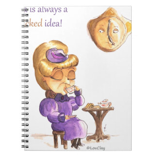 Tea Time Wicked Witches Spiral Notebook