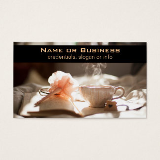 Tea Time with a good book Business Card