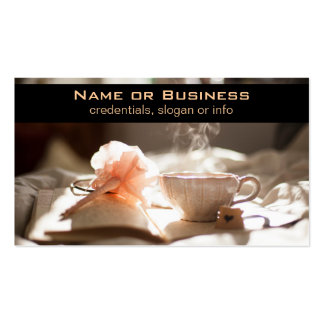 Tea Time with a good book Double-Sided Standard Business Cards (Pack Of 100)