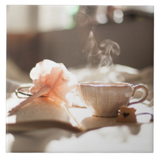 Tea Time with a good book Tile
