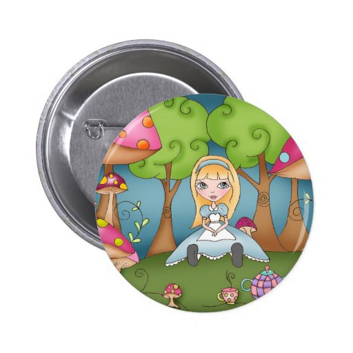 Tea Time with Alice - button