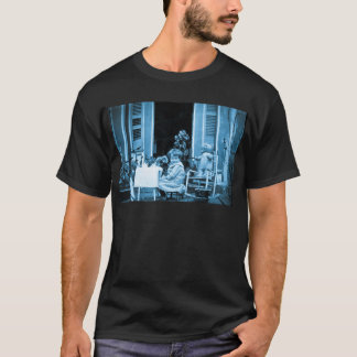 Tea Time with Friends (Blue Toned) T-Shirt