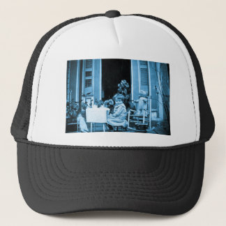 Tea Time with Friends (Blue Toned) Trucker Hat