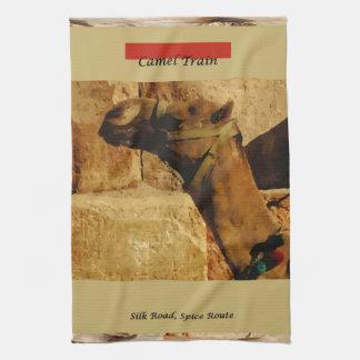Tea Towel - Camel Train; Silk Road; Spice Route