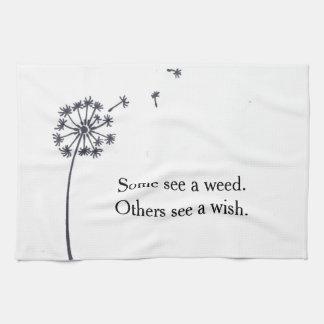 Tea towel - dandelion wish