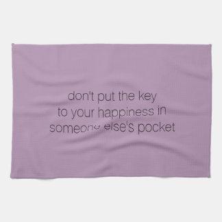 Tea Towel - key to happiness