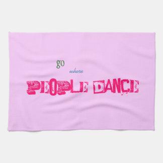 Tea Towel - people dance