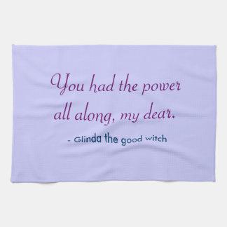 Tea Towel - power my dear