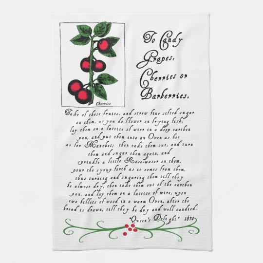Tea Towel With Antique Recipe And Illustration Zazzle Com