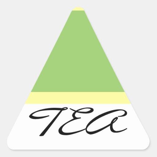 TEA triange sticker