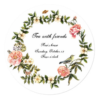 Tea With Friends Invitation  Invitation For A Get Together