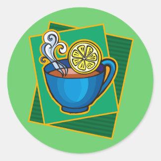 Tea With Lemon Round Stickers